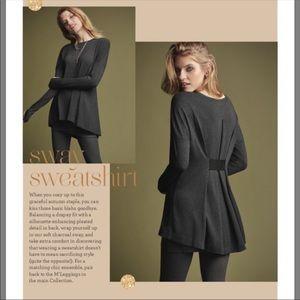 Cabi Gray Sway Sweatshirt Sz L